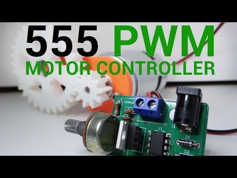 DIY 555 PWM DC motor controller