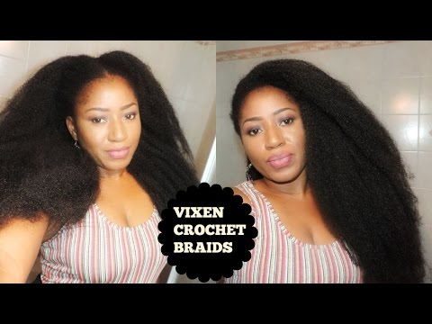 DIY VIXEN CROCHETS BRAID ON SHORT 4C HAIR ,WITH MARLEY HAIR
