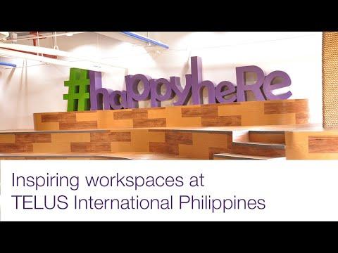 Inspiring workspaces at TELUS International Philippines