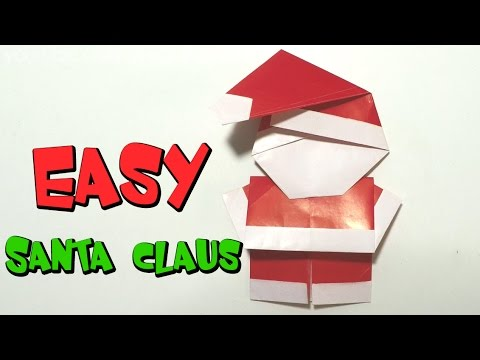 Easy origami for kids - How to make Santa Claus/Christmas DIY