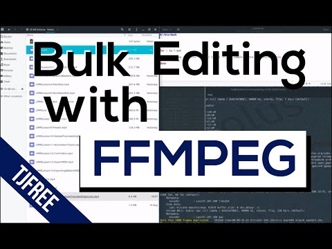 How to edit multiple videos at once using FFMPEG