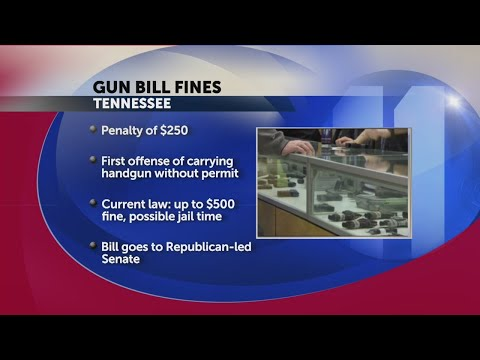 State of Tennessee lowers fine for first offense gun carry without permit