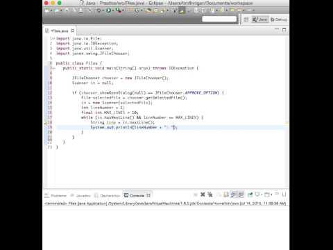 Open a File Dialog Box (Java)