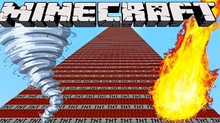 Minecraft Mod Showcase : TORNADO, METEOR & SKYSCRAPER TNTS (Tnt, explosives++)