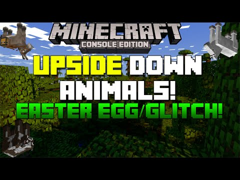 Minecraft Xbox & Playstation: How to Get Upside Down Animals! | Easter Egg / Glitch!