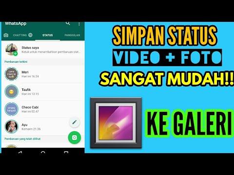 Cara Simpan Status Video Dan Foto Whatsapp Ke galeri