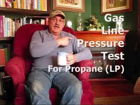 Propane Gas Line Pressure Test