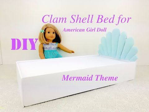 DIY MERMAID THEME CLAM SHELL BED FOR AMERICAN GIRL DOLL