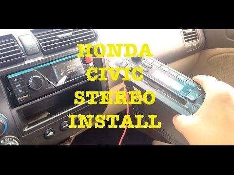 Honda Civic Stereo Install