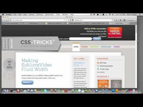 Screencast #102: Braindump on Responsive Web Design