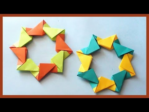DIY Origami Ring Decoration Idea for Wall or Room