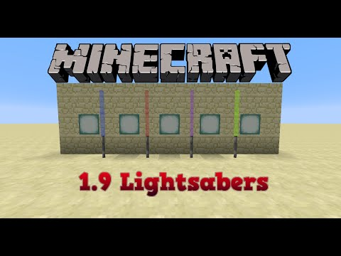 Minecraft 1.9 Tutorial :: How To Make Lightsabers