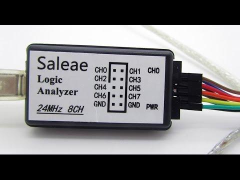 Saleae 8ch 24MHz logic analyzer- logikai analizátor (magyarul)
