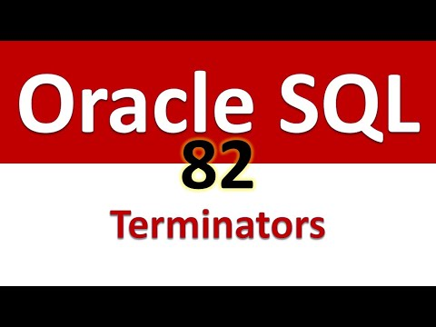 Oracle SQL Developer Tutorial For Beginners  82   SQL Statement Terminators