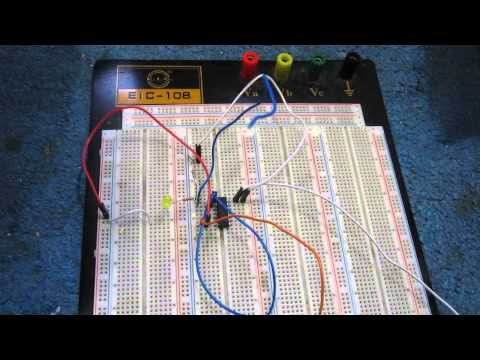 Touch Sensor Circuit built with a 4011 NAND gate chip