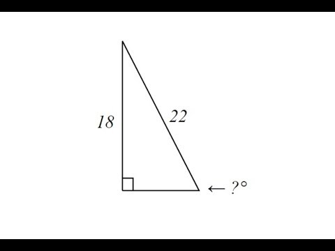 Use Inverse Sine to Determine an Angle in a Right Triangle