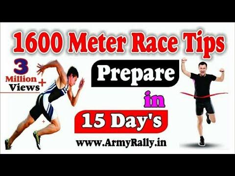 How To prepare 1600 Meter Running Race  in 15 days l 1600 Meter race Tips in Hindi