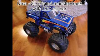 Ursa - 3D printed monster truck with LED headlights.