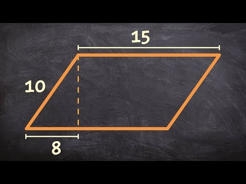 How to find the area of a parallelogram using the pythagorean theorem
