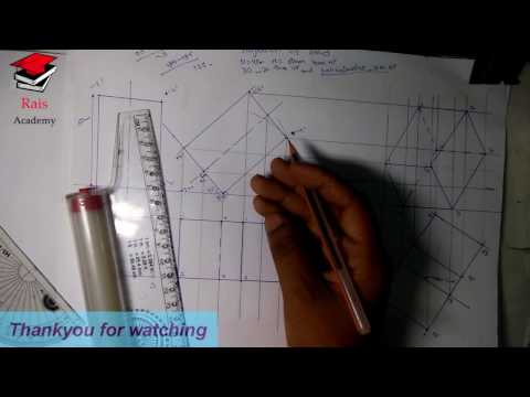 [hindi] Projection of solid : Square prism (3 view)