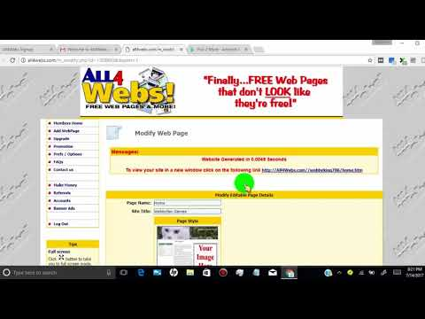 How To Get DoFollow Backlink from All4Webs   DA 60  (Off Page SEO)