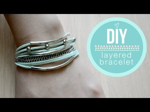 ❥ DIY Layered Wrap Bracelet {EASY}