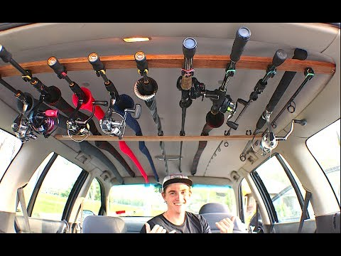 How to Build a Cheap DIY Fishing Rod Holder for your Car!!