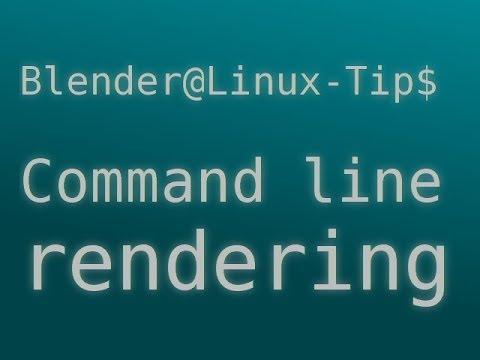 Blender Linux Tip: command line rendering python script.