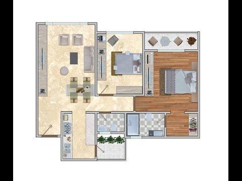 2D Floor Plan Rendering in Adobe Photoshop CC