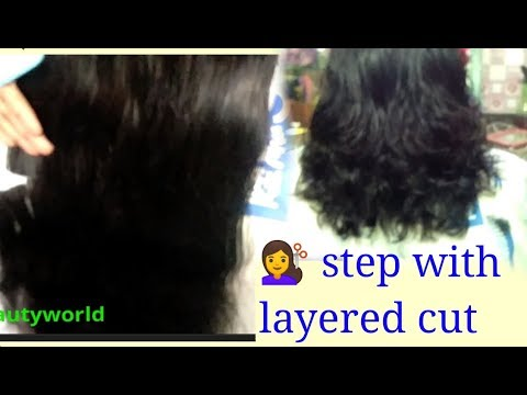 Easy step cut with layered cut long to short hair step by step tutorial in hindi