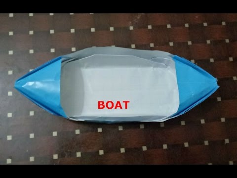 Craft paper boat/easy fold paper boat/how to make paper boat/origami