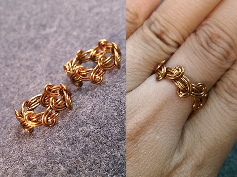 Simple knot ring - handmade jewelry design  237