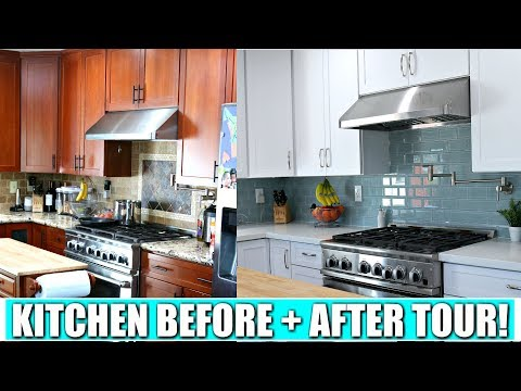 KITCHEN MAKEOVER TOUR! | Before & After