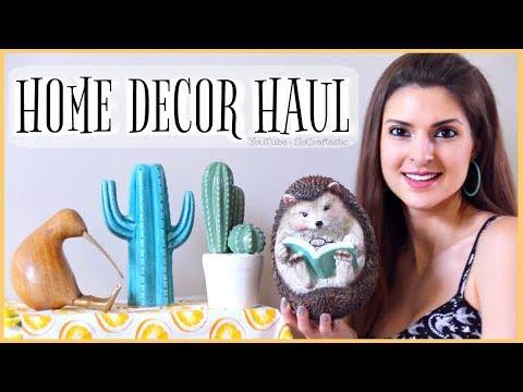 HOME DECOR HAUL | SoCraftastic