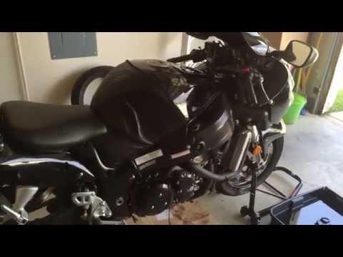 Motorcycle oil drain pan leak repair.  I did this repair on my Hayabusa.