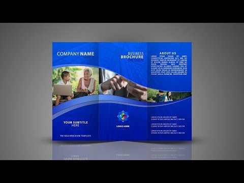 Tri Fold Brochure Design | In Photoshop cc tutorial Hindi / Urdu