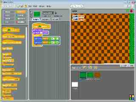 How to make a two axis scrolling game with scratch
