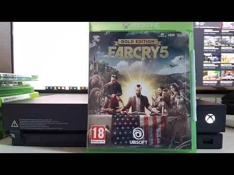 Far Cry 5 Gold Edition Unboxing Xbox One