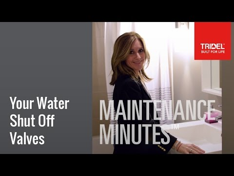 Water Shut Off Valves in your Condo Home