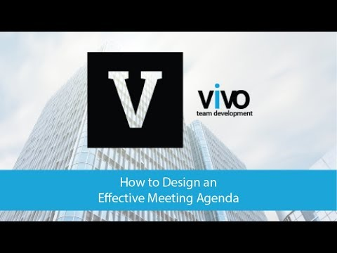 How to Design An Effective Meeting Agenda