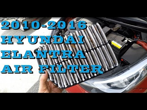 How to replace Air filter in Hyundai Elantra 2010-2016