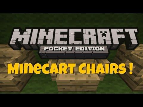 Make Working Chairs Using Minecarts !  Minecraft PE