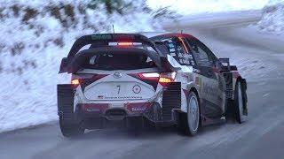 WRC Rally Monte Carlo 2018 Day 4 | Peira Cava Show on Ice [HD]