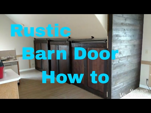 Custom home builder: How to build rustic barn doors and a slatted wall.