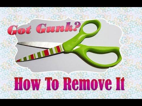 Got Gunk?   Remove Gunk Off Scissors!    PrettyThingsRock