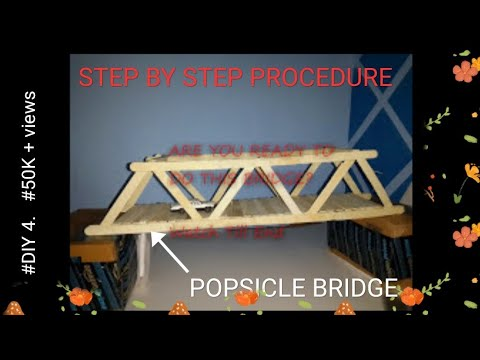 Make A Bridge with ICE CREAM STICKS (Do it yourself)