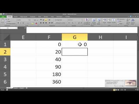 Excel obtain the sine of an angle