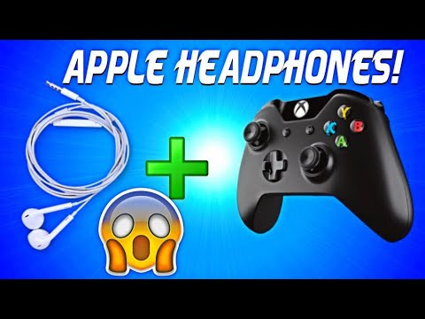 How to use apple headphones for Xbox one controller