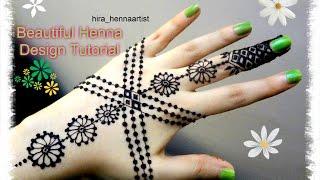Beautiful Henna Mehndi Jewellery : Beautiful simple henna jewelery inspired mehndi designs for hands