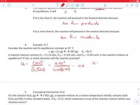15.7 Reaction Quotient